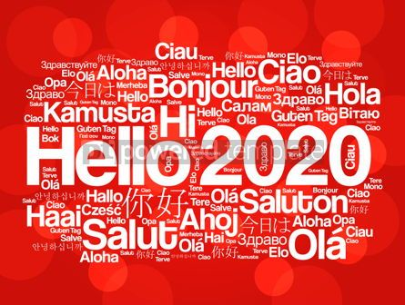 Business: Hello 2020 word cloud in different languages #12235