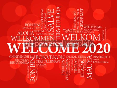 Business: WELCOME 2020 word cloud in different languages #12236