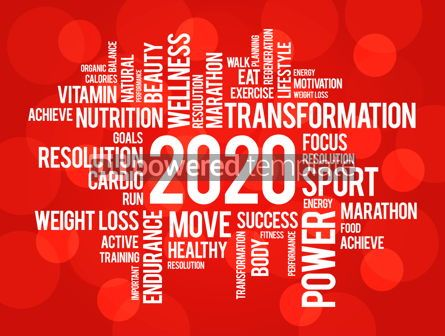Business: 2020 health and sport goals word cloud concept #12237