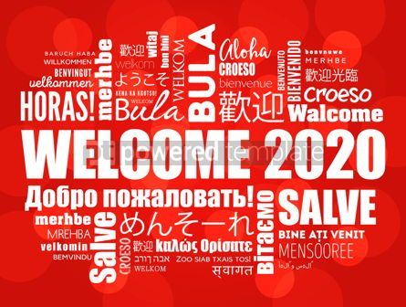 Business: WELCOME 2020 word cloud in different languages #12238
