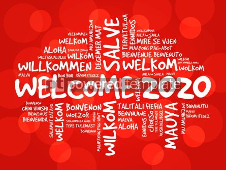 Business: WELCOME 2020 word cloud in different languages #12239