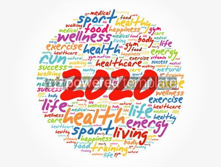 Health: 2020 health and sport goals word cloud motivation concept background #12240