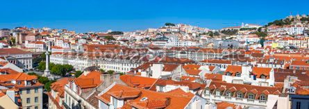 Architecture : Panoramic view of Lisbon old town Portugal #12250