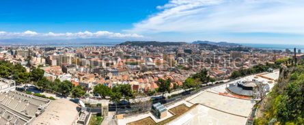 Architecture : Panoramic view of Cagliari old town Sardinia Italy #12252