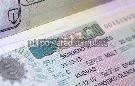 Business: Page of Passport with Schengen Visa #12265
