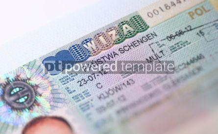 Business: Page of Passport with Schengen Visa #12267