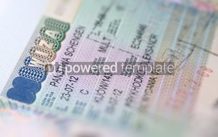 Business: Page of Passport with Schengen Visa #12268