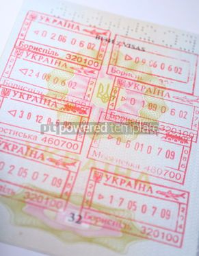 Business: Page of Passport with immigration stamps  #12270