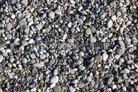 Nature: Pebble stones on the beach #12272