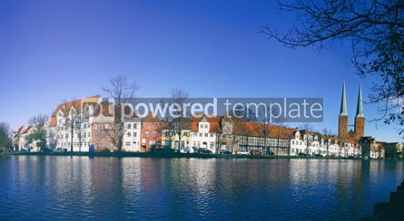 Architecture : Skyline of the medieval city of Lubeck Germany #12295
