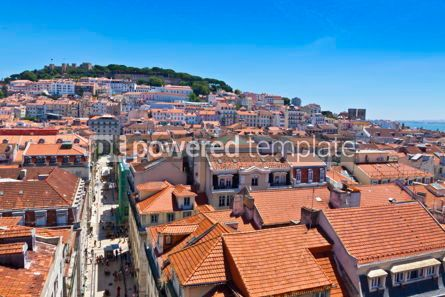 Architecture : Skyline aerial view of Lisbon Portugal #12299