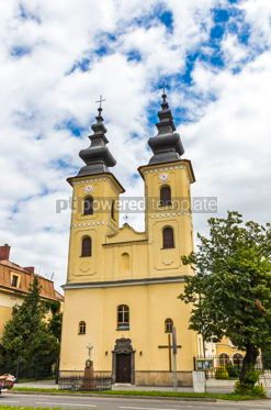 Architecture: Church of Nativity of Mother of God in Michalovce Slovakia #12302