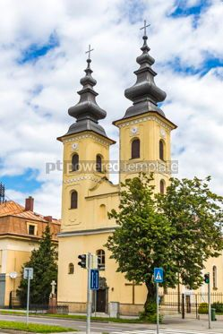 Architecture: Church of Nativity of Mother of God in Michalovce Slovakia #12303