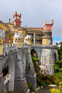 Architecture :  Pena National Palace in Sintra Lisbon Portugal #12310