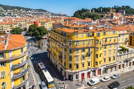 Architecture : Colorful historical houses in Nice city France #12319