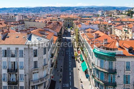 Architecture : Colorful historical houses in Nice city France #12320