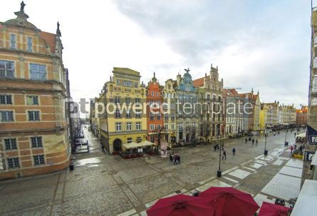 Architecture : Long Market street (Dlugi Targ) in Gdansk Poland #12322