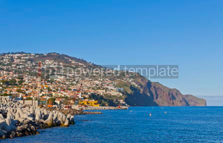 Nature: Funchal city and Atlantic ocean Madeira island Portugal #12325