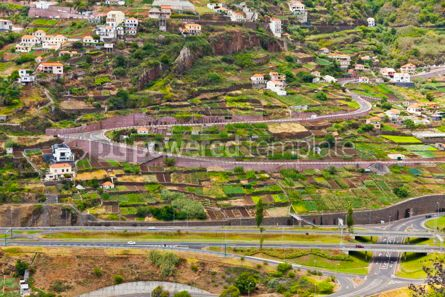 Nature: Mountain highway roads on Madeira island Portugal #12327
