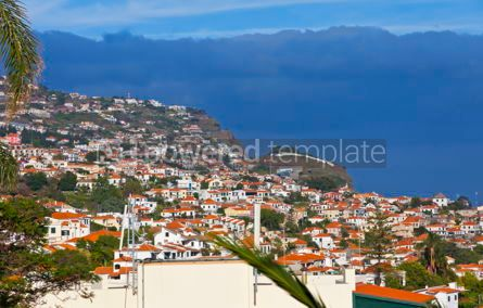 Nature: Scenic view of buildings in Funchal city Madeira island Portug #12329