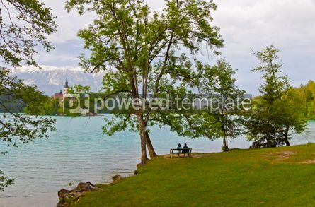Nature: Beautiful spring landscape of Bled Lake Bled Slovenia #12331
