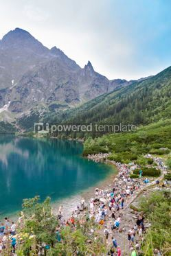 Nature: Morskie Oko lake in High Tatra Mountains Poland #12339
