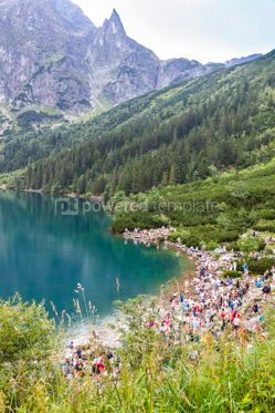 Nature: Morskie Oko lake in High Tatra Mountains Poland #12340