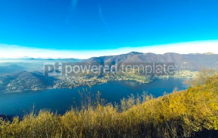 Nature: Picturesque panorama of Lake Como Lombardy Italy #12345