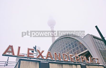 Transportation: Building of AlexanderPlatz Railway station in Berlin #12359