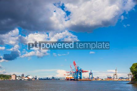 Industrial: Port of Hamburg on the river Elbe Germany #12362