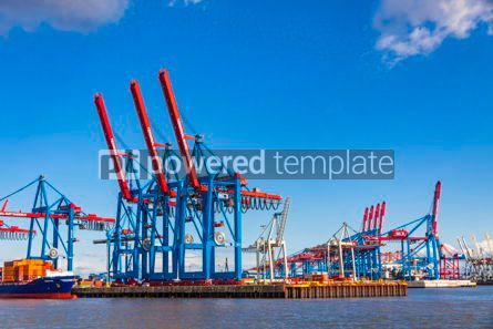 Industrial: Port of Hamburg on the river Elbe Germany #12363