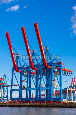 Industrial: Port of Hamburg on the river Elbe Germany #12364