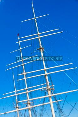 Industrial: Ropes and masts on a ship  #12366