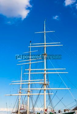 Industrial: Ropes and masts on a ship  #12367