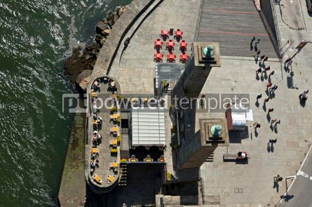 Architecture : Scenic cafe on a riverbank of Douro river Porto Portugal #12371