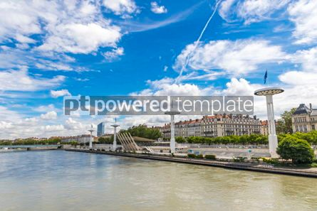 Architecture : Enbankment of the Rhone river in Lyon France #12383