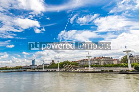Architecture : Enbankment of the Rhone river in Lyon France #12384
