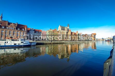 Architecture : Motlawa river and colourful houses in Gdansk city Poland #12391