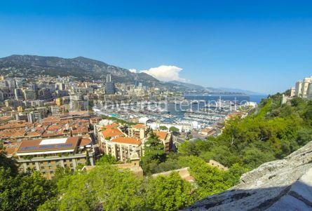 Architecture : Panoramic view of Monte Carlo city Cote d'Azur Monaco #12397