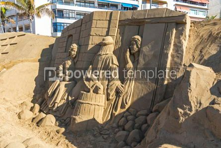 Arts & Entertainment: Sand sculptures on beach in Las Palmas de Gran Canaria Spain #12400