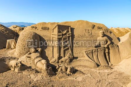 Arts & Entertainment: Sand sculptures on beach in Las Palmas de Gran Canaria Spain #12403