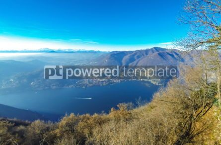 Nature: Picturesque panorama of Lake Como Lombardy Italy #12407