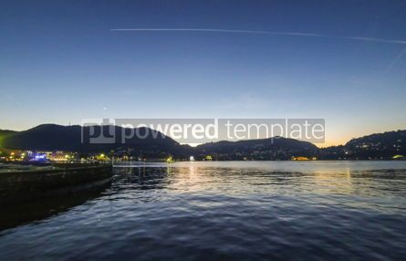 Nature: Picturesque view of Lake Como in evening Italy #12408