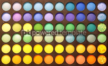 Abstract: Close-up professional multicolour eyeshadows palette #12414