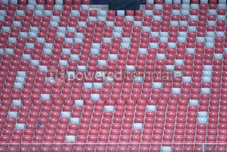 Sports : Close-up empty stadium tribunes #12421