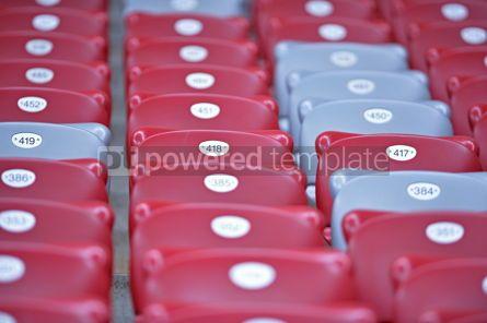 Sports : Close-up empty stadium tribunes #12422
