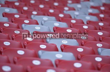 Sports : Close-up empty stadium tribunes #12423