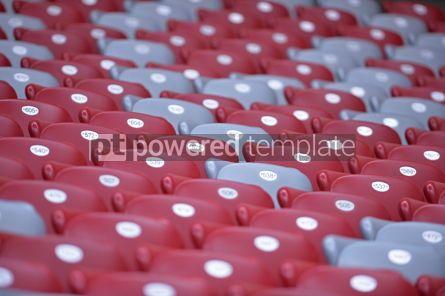 Sports : Close-up empty stadium tribunes #12424