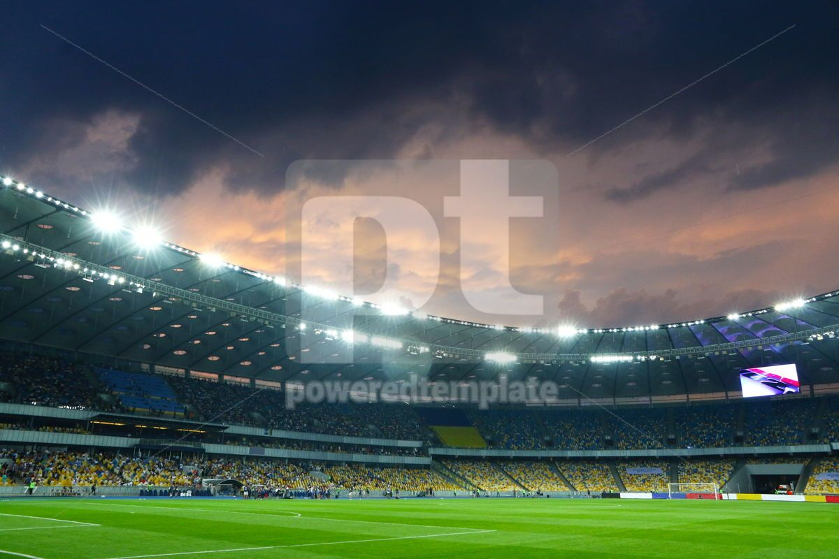 Panoramic view of the football stadium, 12450, Sports  — PoweredTemplate.com