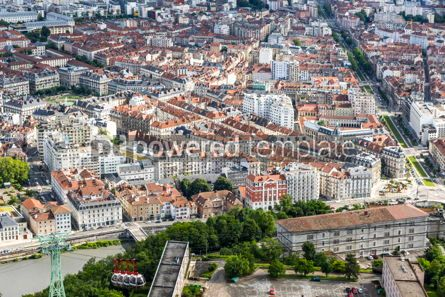 Architecture : Aerial view of Grenoble old town France #12464